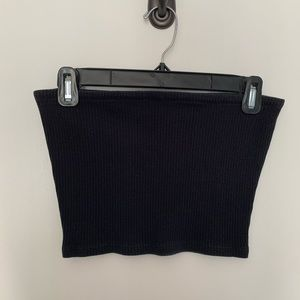 Urban Outfitters Black Tube Crop Top